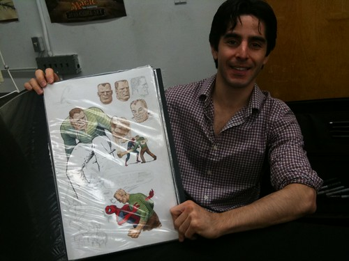 Paolo Rivera with his sketches!