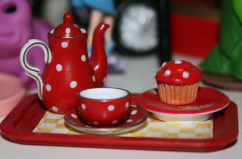 mushroom tea and cake