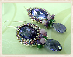 Purple Passion Beaded Earrings (Social Butterfly Jewellery) Tags: australia beadedjewellery handmadejewelry handmadeearrings beadedjewelry handmadejewellery beadedearrings melissaingram handmadeinmelbourne swarovskicrystalearrings socialbutterflyjewellery beadwovenearrings purplecrystalearrings jewellerymadeinmelbourne