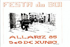 Allariz - 1985 - Festa do Boi - cartel