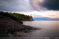 Split Rock Brushed Sky (Shawn Thompson - Lake Superior Photographer) Tags: light sunset lighthouse house storm landscape long exposure northshore slowshutter lakesuperior timed splitrock splitrockstatepark scenic61 bw10stopndfilter