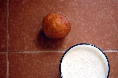 """""""milkshake"""" + zucchini muffin"""