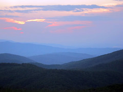 sunset at max patch