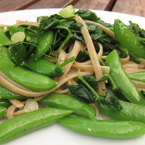 #152 - Linguine with Sugar Snaps Peas & Tendrils