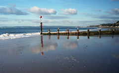 before the crowds (Look at the view) Tags: leica morning clouds reflections groyne bournemouth leica3g