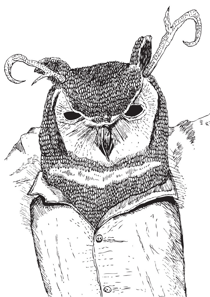 the owls are not what they seem - to be printed on canvas bags!