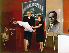 Marie La Guardia at ceremonies for the founding of La Guardia Community College, circa 1972. (La Guardia and Wagner Archives) Tags: laguardia fiorellolaguardia fiorello thelittleflower mayorlaguardia marielaguardia