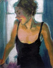 Bethany Black Dress - SOLD (meli66a) Tags: oilpainting portraitpainting paintingaday figurepainting dailypainter