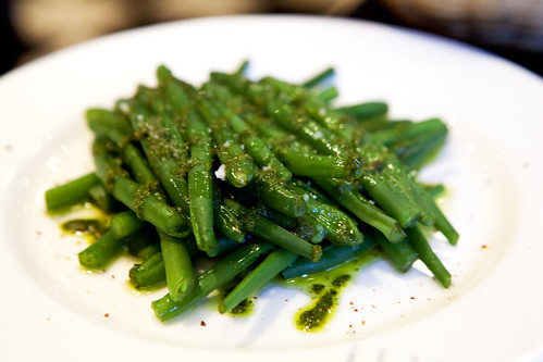 Haricot verts with pesto