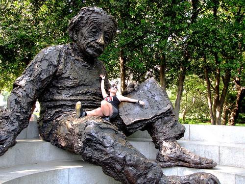 Becky with Einstein