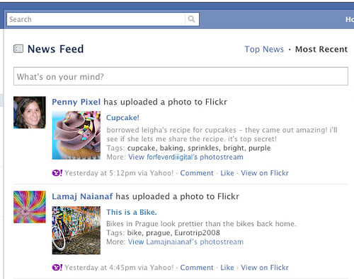 Facebook sharing, updates are only automatically sent to your Facebook