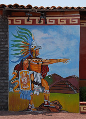 Mexican Eagle Warrior (Ilhuicamina) Tags: art mexico restaurant eagle teotihuacan paintings murals mexican warrior pyramids aguila guerrero