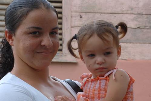 madre y niña de los corozos