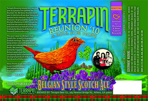 Terrapin Beer Company Reunion 2010 Label
