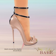 Stiletto Moody Bare Brigitte (Nude-Black) (Stiletto Moody) Tags: leather cutout boot foot toes highheels heart bare kaleidoscope pump bow strap zipper python hip ankle spectator maryjane brigitte sculpted bootie peeptoe patent impossibly moodys anklestraps beautifulfoot stilettomoody badseedred footinshoe wildatheartcollection stilettomoodyspring2010