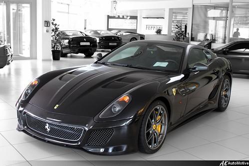 nero matte grey roof grey wheels - Matte Black Ferrari 599