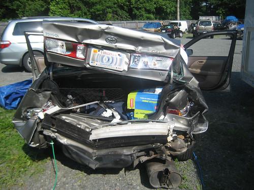 Wayne's car post crash