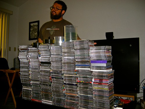 David with CDs