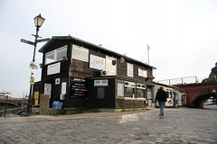Folkestone Harbour: Jetty's Bar & Cabin Cafe (ReflectOnThis) Tags: fish bar demolish restaurant photo cafe cabin harbour gone seafront development demolished folkestone regeneration jettys folkestoneseafrontcom