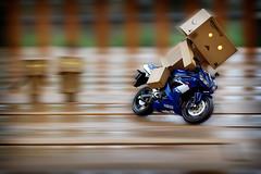 070/365:  Danbo Drift! (Randy Santa-Ana) Tags: blur speed toys ride danbo gf1 project365 yamahayfz450 danboard minidanboard minidanbo 365daysofdanbo driftmotorcycle