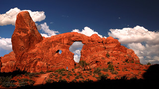 Turret Arch from North Window at Arches National Park