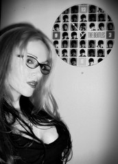 PIC_0031 (Lilith S) Tags: bw woman selfportrait clock girl glasses specs edit thebeatles eyewear