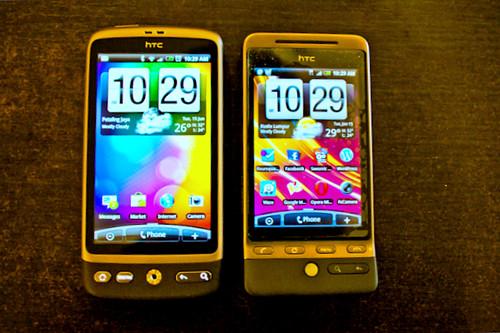 HTC Desire n HTC Hero