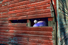 missing slats (Orbiting Sol) Tags: barn stars missing space surreal elements planet adjust pse8