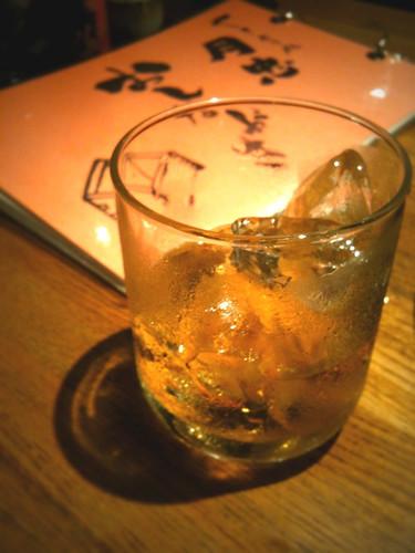 梅酒がウメッしゅ。月忠はなに食っても、なに飲んでもうまいな。町田で1番の焼鳥屋かも。
