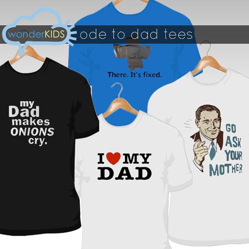 <(wonderkids)! ode to dad tees display