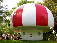 Mushroom bouncy house (roseycheekes) Tags: toronto cute wishcometrue friendswithyou luminato