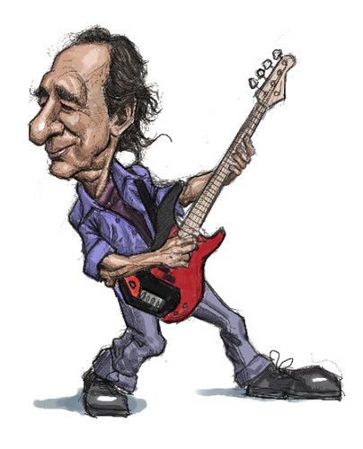 digital caricatures of Harry Shearer - 2