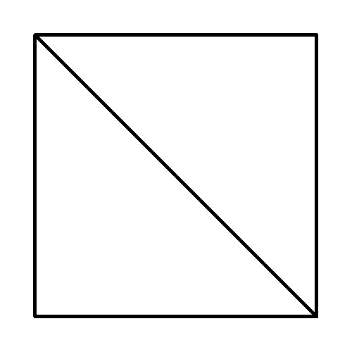 Half-square triangle diagram