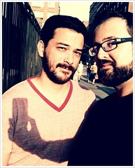 """""""There Is an iPhoneographer in Our Hearts"""" (Sion+Anton) Tags: nyc newyorkcity shadow portrait people selfportrait newyork love portraits self photographer beards anton sion allrightsreserved onthestreet iphone gaycouple bothofus gayguys thetwoofus sionfullana cameraapp iphoneography ©sionfullana gaybeardedmale iphone3gs editedanduploadedoniphone gaymalecouple thereisaniphoneographerinourhearts areguysreallygay"""