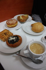 Breakfast at a bakery