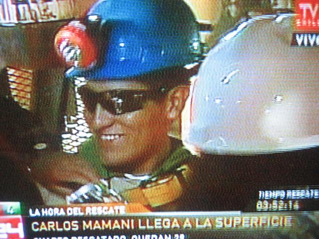 33 mineros Boliviano Carlos Mamani