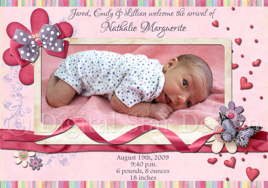 Birth Announcement, 7x5