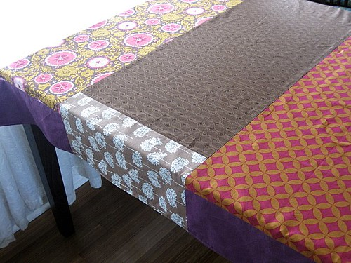 Fabric not wide enough = pieced edges