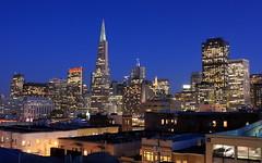 (A Sutanto) Tags: sf sanfrancisco california ca city blue light urban orange usa color up skyline architecture night america buildings twiligh