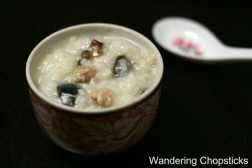 Chao  Congee  Jook Thit Heo Bam Hot Vit Bac Thao (Vietnamese  Chinese Rice Porridge with Ground Pork and Preserved Duck Egg) 2