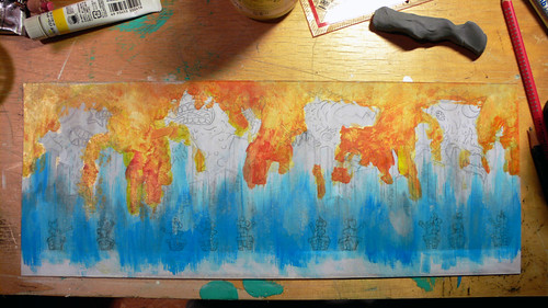 Kaiju Painting Step 3