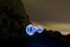 Crags Orbs (readwrite) Tags: longexposure light night edinburgh path orb led holyrood string crags lapp lightartperformancephotography