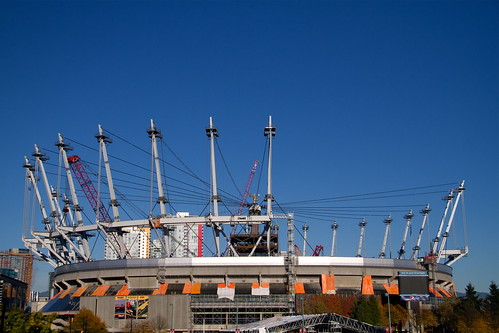 BC Place under construction for a new retractable roof