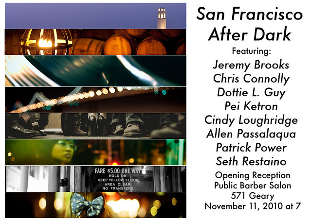 Public Barber Salon Photography Show: San Francisco After Dark