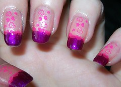 Purple & Pink hearts