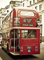 60's London Bus (Rafe Abrook Photography) Tags: city red bus london vintage transport olympus retro e3 doubledecker thameslink 1454 mywinners