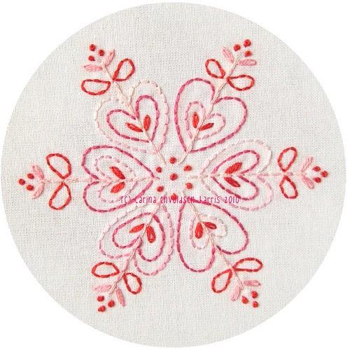 Pink snowflake pattern