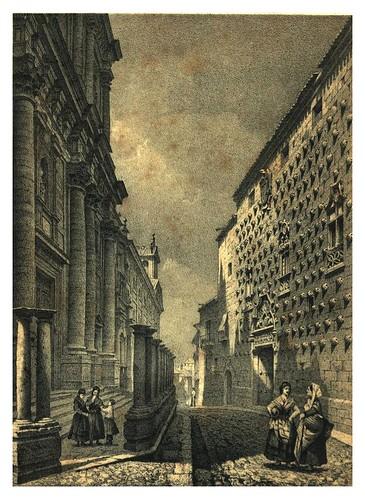 031-Casa de las Conchas (Salamanca) (1865) - Parcerisa, F. J-Biblioteca digital de Castilla y León  .
