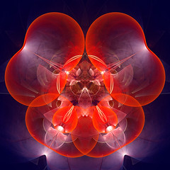 Another Poppy (Luc H.) Tags: poppy fractal abstract graphic graphism digital red