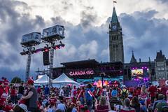 Canada 150th (lizmarteau) Tags: canada canadaday feteducanada country celebration fireworks parliament parliamenthill flag mapleleaf